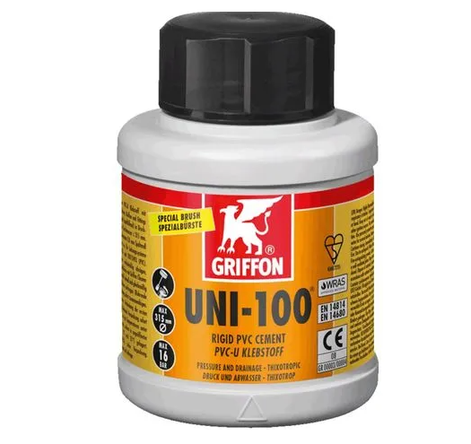 Griffon UNI-100 PVC Kleber 250ml Dose mit Spezialbürste