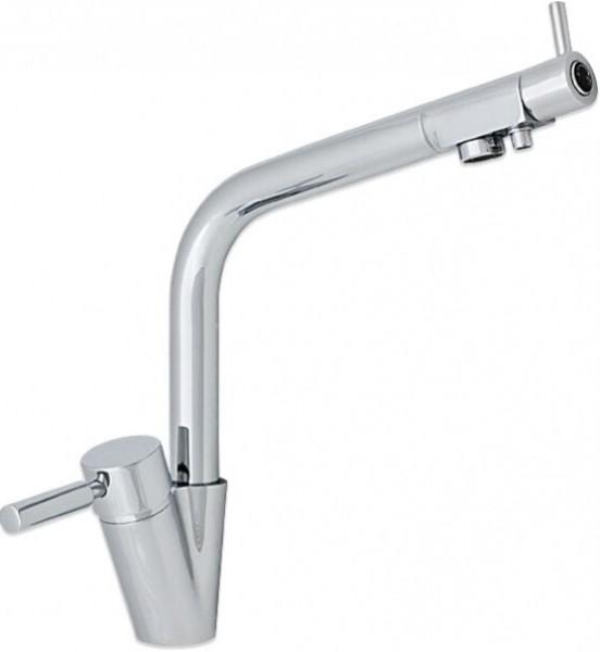 Drei-Wege-Wasserhahn OREGON, Chrom , für Osmoseanlagen Trinkwasseranlagen
