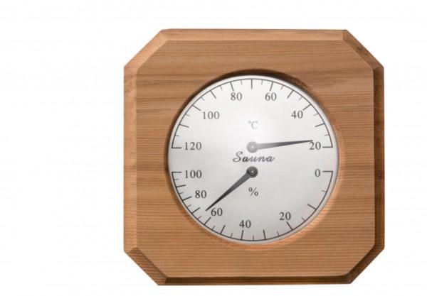 Thermo-Hygrometer Quadrat mit Fase