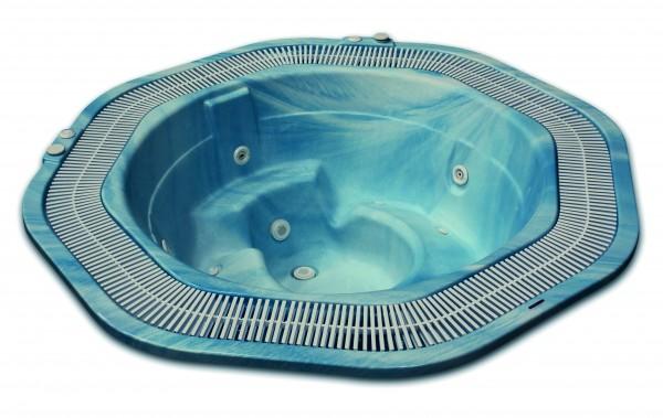 Einbauwhirlpool mit Überlaufrinne Casiopea