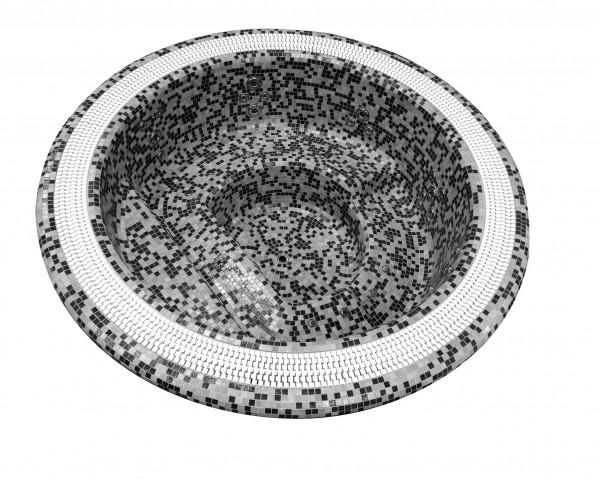Einbauwhirlpool mit Überlaufrinne Mirage