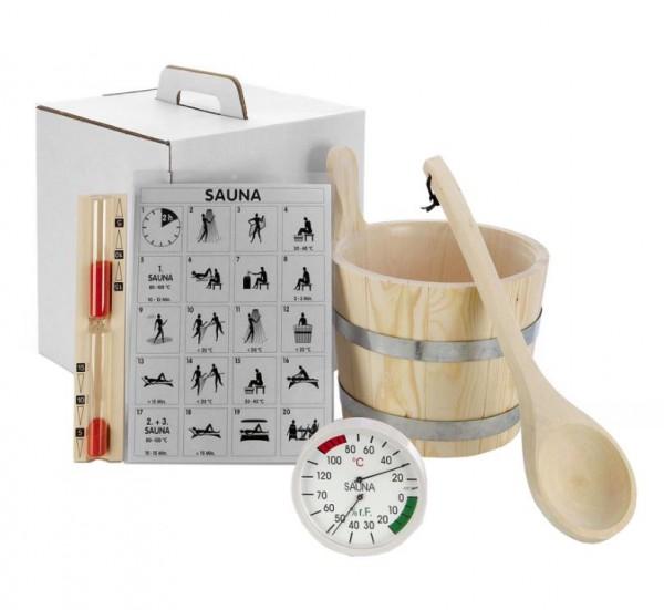 """Sauna Zubehör-Set """"Standard"""" 6-teilig"""
