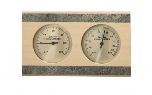 Thermo-Hygrometer Espe mit Speckstein